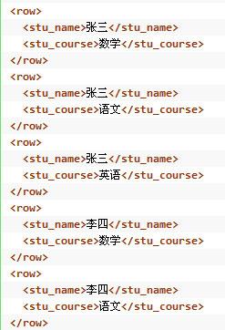 XML结果