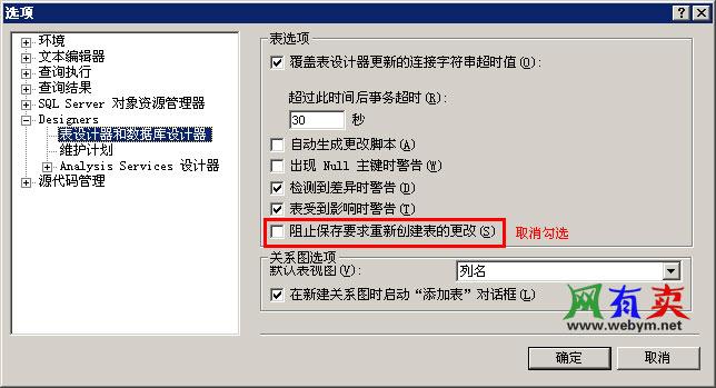 表设计器和数据库设计器