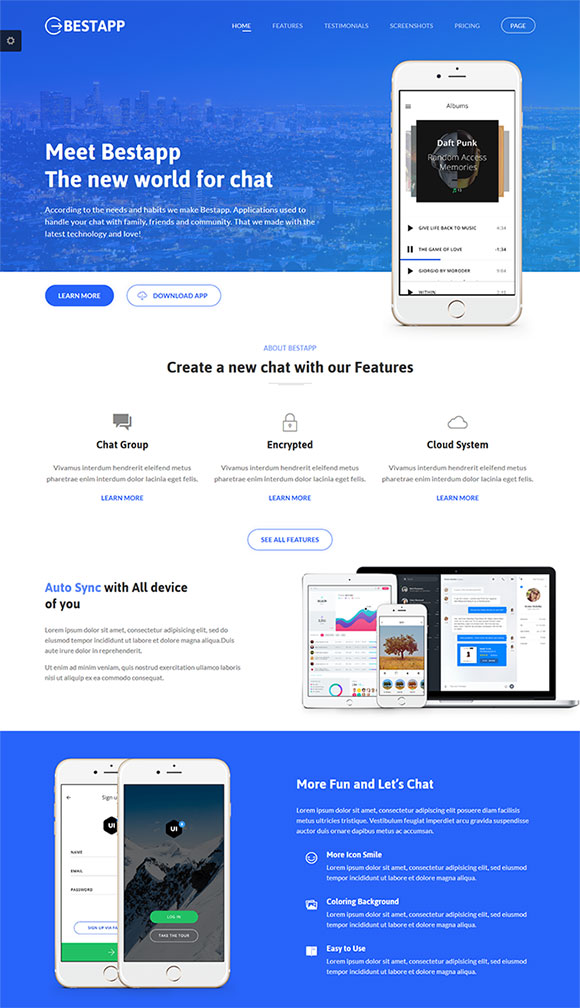 app官网网站模板