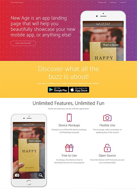 app网络科技网站模板