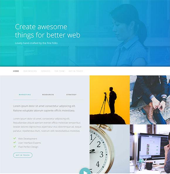 单页网站模板