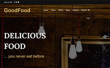 西餐厅网站模板