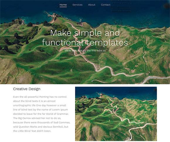 地理杂志网站模板