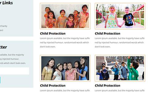 儿童培训网站模板