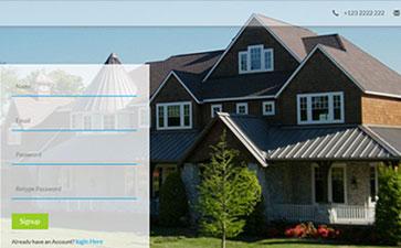 房地产中介网站模板