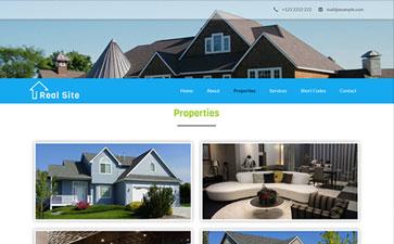 房产中介网站模板