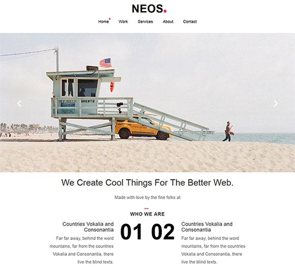 海滨浴场网站模板