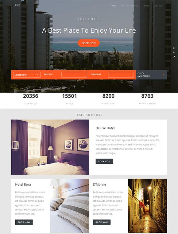 假日酒店网站模板