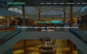 酒店管理网站模板