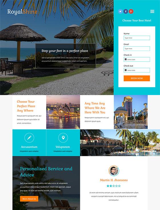 度假酒店网站模板