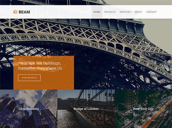 建筑设计网站模板