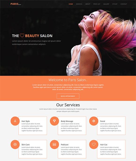 造型设计网站模板