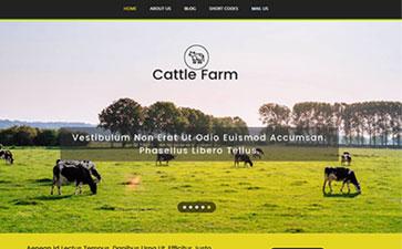奶牛养殖基地网站模板