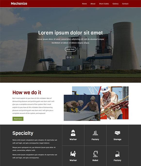 冷却塔网站模板
