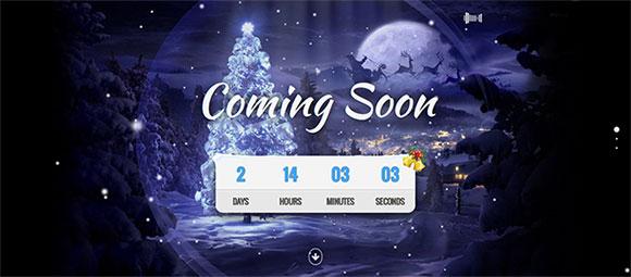 圣诞节网站模板