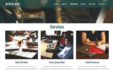 商务信息公司网站模板