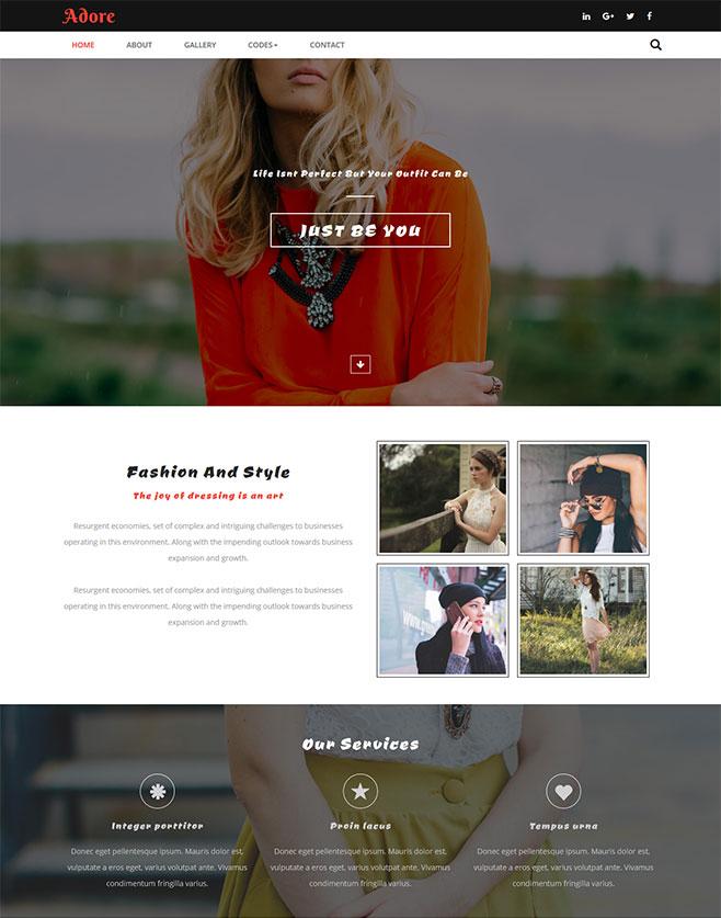 时尚品牌网站模板