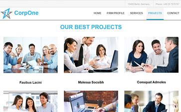 商务html模板
