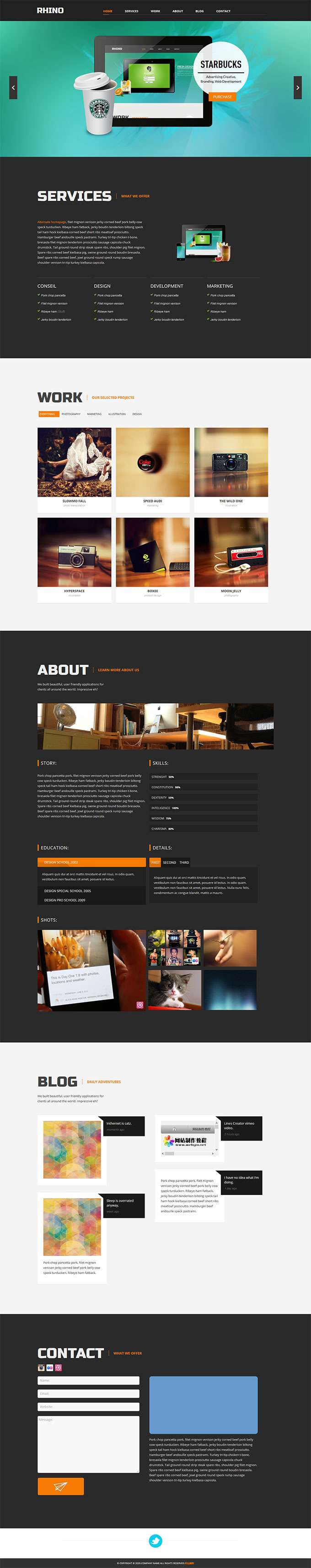 html5摄影网站模板