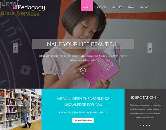 小学教育机构网站模板