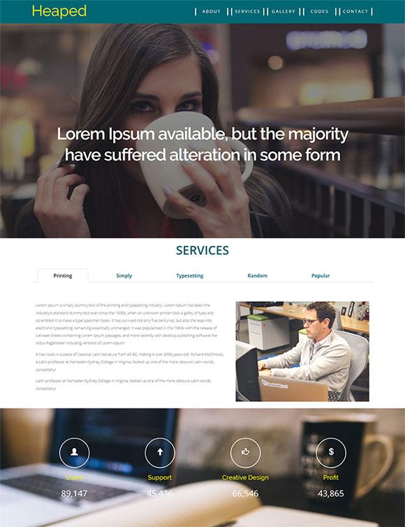 休闲商务网站模板