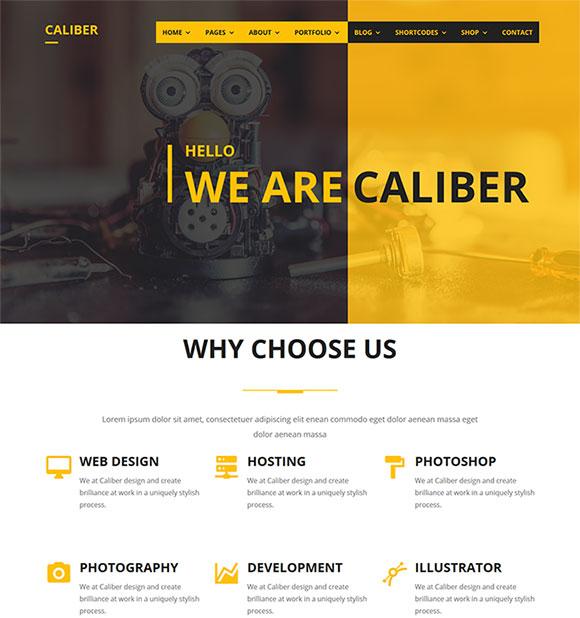 黄色风格科技网站模板