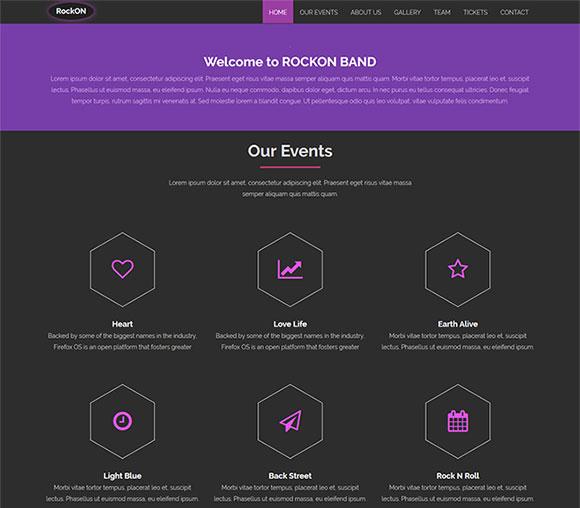 音乐工作室网站模板