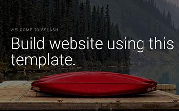 自然风光网站模板